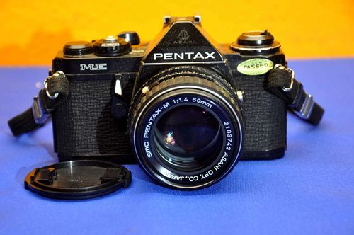 Pentax ME with SMC Pentax-M 1:1,4 50mm in black