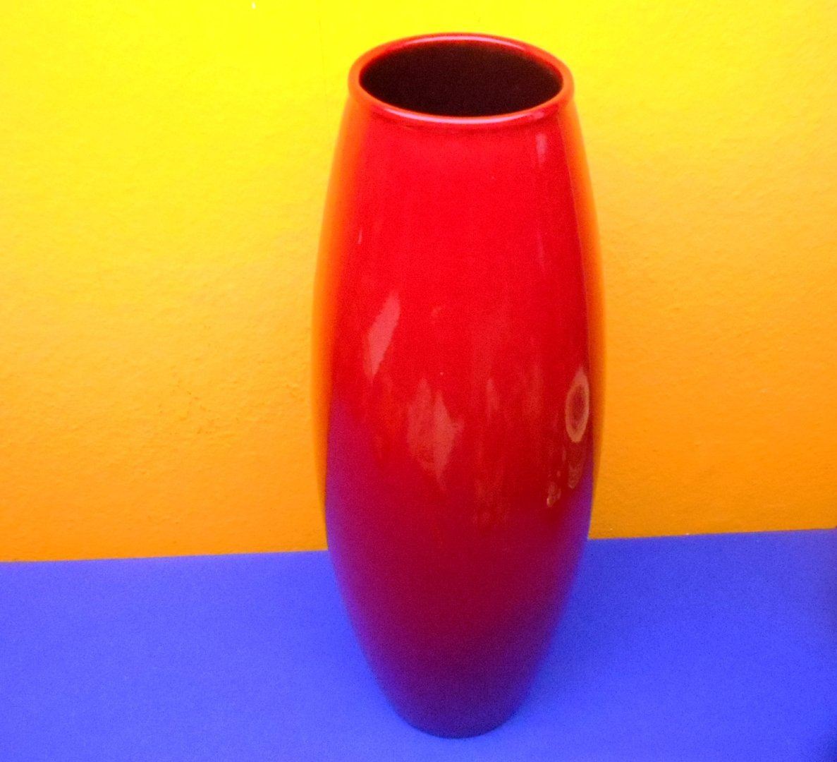 Scheurich Amano German Pottery Vase 629 50 Blood Red Kusera