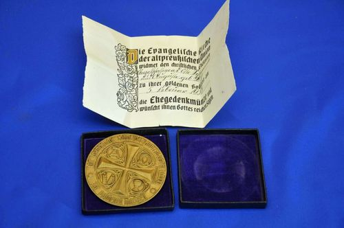 Golden wedding commemorative coin +box +certificate 1937
