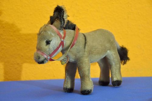 Vintage Steiff Donkey with harness 1314,0