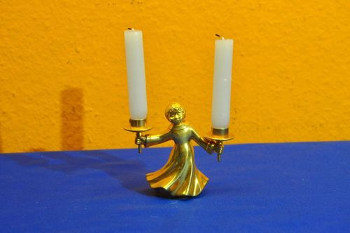 BMF Play-Light Candle Holder Angel gilded