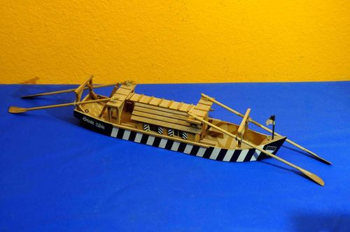 Wooden model City Ulm Ulmer Schachtel ferry boat 60cm