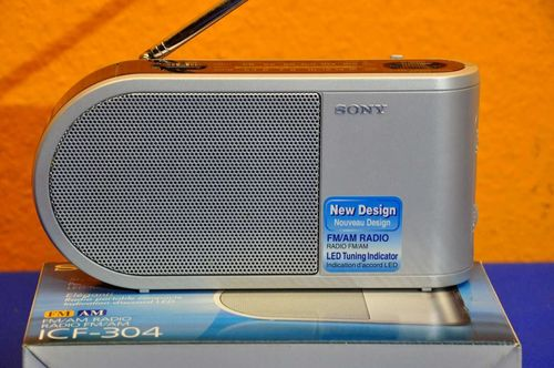 Sony ICF-304 FM/AM Designer Radio + original packaging