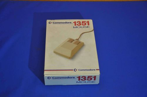 Commodore 1351 Mouse with instructions NOS