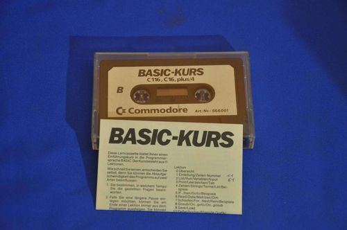 Commodore 116 C16 plus/4 Basic Kurs Cassette