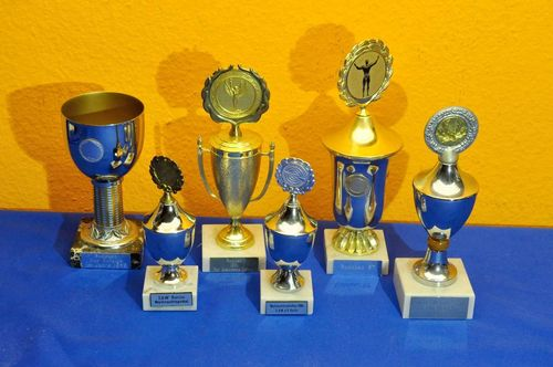 6 trophies marble base shoot fitness