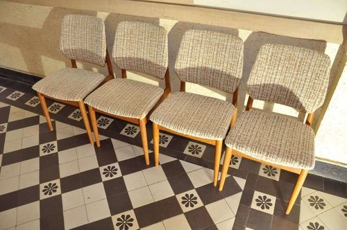 4 dining chairs teak Casala model 1960s