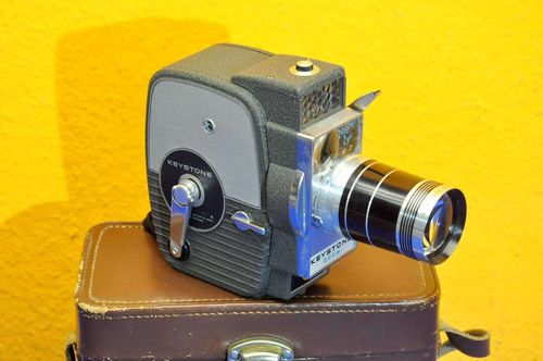 Keystone zoom Electric Eye K-7 Doppelacht Filmkamera