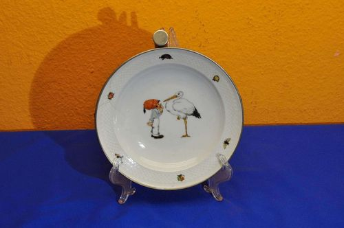 WMF Warming Plate Stork with Child '30s