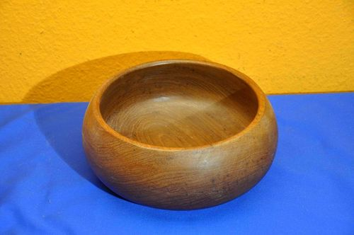 Large teak bowl Ø 25 cm from the 1960s