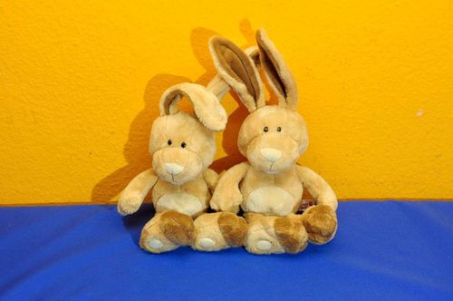 Nici Stuffed animals 2 funny bunnies