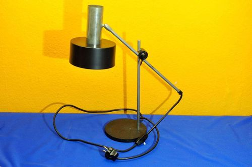Desk lamp black / chrome VEB Halle around 1960