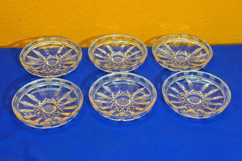 Antique crystal 6 compote bowls high quality