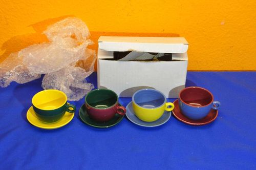 4 colorful mocha cups set original packaged