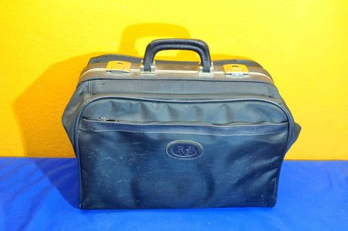 PMB doctor case made of nylon mesh in blue 1970s