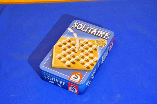 SOLITAIRE Schmidt Games wood in metal box