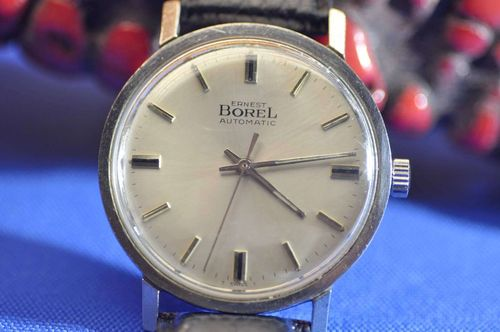 Wristwatch Ernest Borel automatic stainless steel 1960s