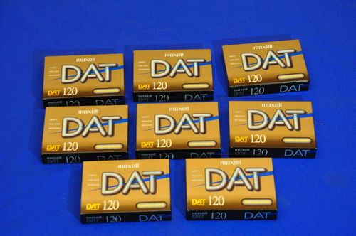 8x DAT 120 Maxell cassette original packed