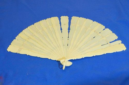 Old fan made of ivory around 1900