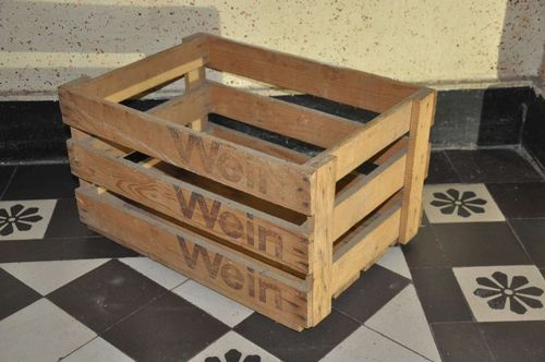 REAL old wooden wine box