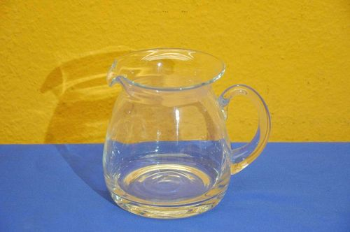 Vintage 1 l glass jug thick-walled ground