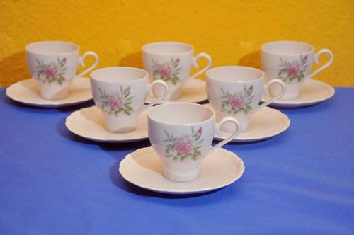 Hutschenreuther Porcelaine Rose Desiree 6 Mocha cups