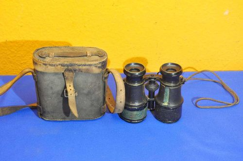 Binoculars with bag Richard Fiedler Berlin-Wroclaw 1880