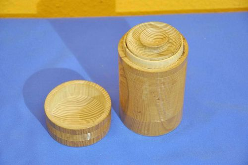 Japanese tea leaf box wood handicrafts
