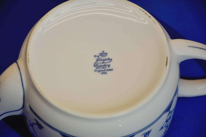 Tee Kanne Stövchen Indisch Blau Tee Tassen Stroh