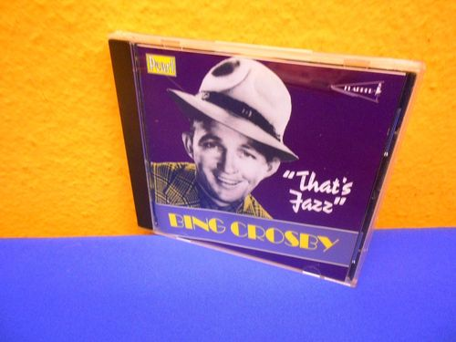 Bing Crosby That's Jazz Pearl Past CD 9739