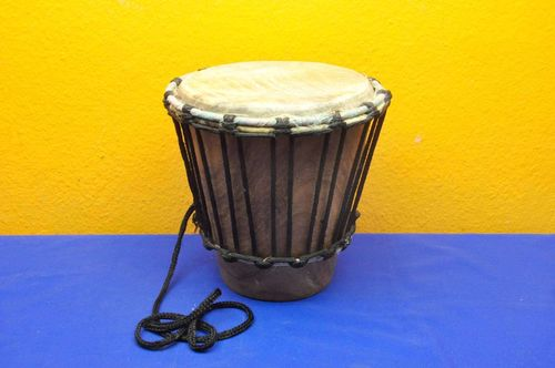 Djembe small drum made of african tonewood