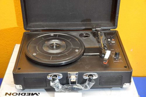 Portable USB turntable MD80018 Medion