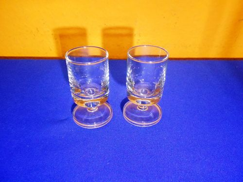 Rosenthal Berlin 2 shot glasses round transparent foot