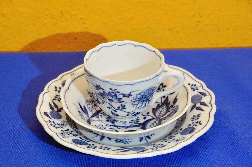 Hutschenreuther Zwiebelmuster 6 Untertassen ohne Spiegel für Kaffeetassen