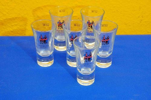 6x Original Lehment Rostocker Mann + Fru 2cl/4cl glasses