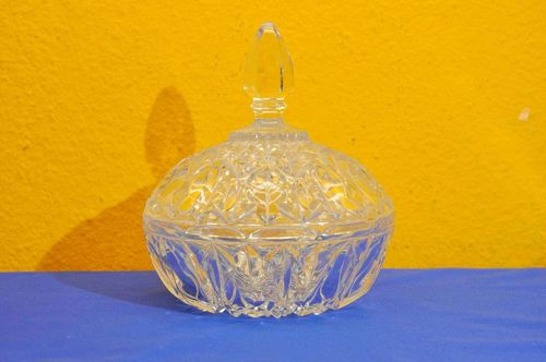 Vintage Crystal Candy Bowl very Large