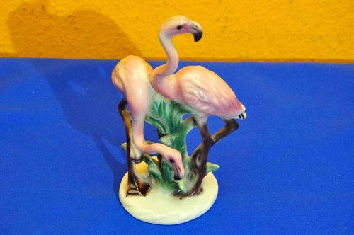 Flamingo Couple Animal Figure from the 50s