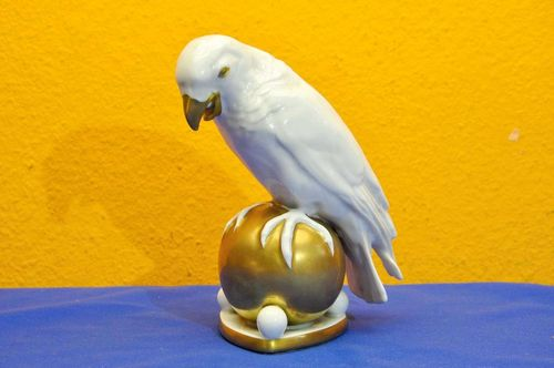 Parrot on gold ball Prof. Fritz Klee 1920s Art Deco