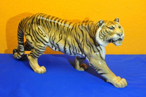 Hutschenreuther art department large tiger hand painted