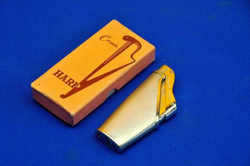 Crown Harp petrol lighter with original packaging