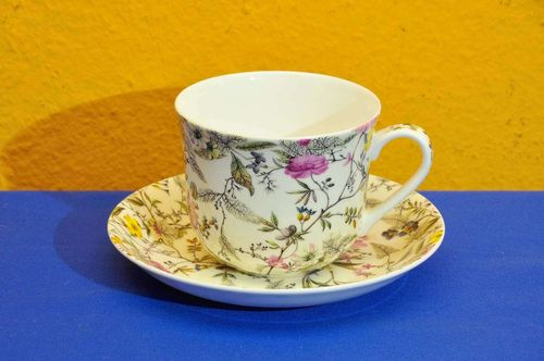 Kilburn Breakfast Cup Summer Blossom Bone China