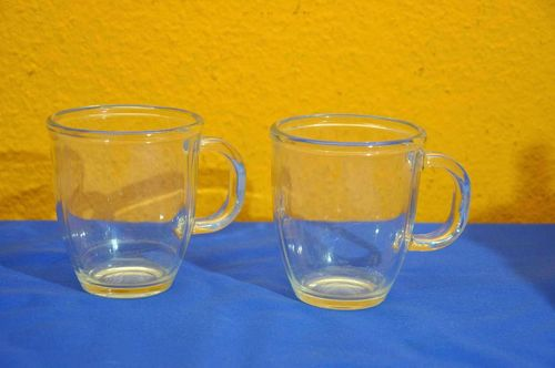 2 Glastassen Kaffeebecher made in France