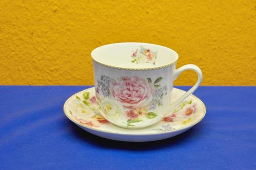 Easy Life Frühstückstasse Romantic Lace Bone China