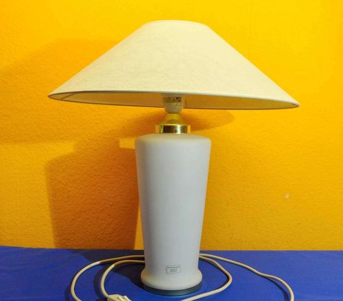 Murano Table lamp white with gold double light