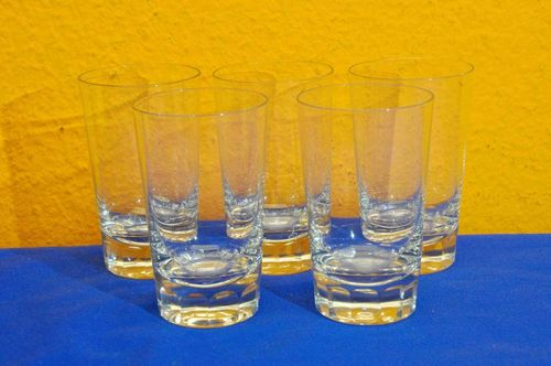 5 high-quality crystal glasses water glasses with cut