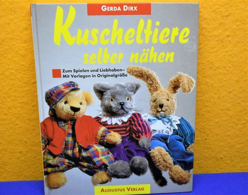 Cuddly toys sew themselves German DIY book