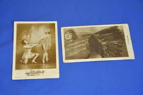 2 autograph cards 1930s the 2 Sinolas dance games