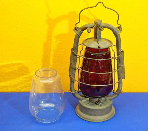 Oil lamp copper-plated mixed air BAT red cylinder