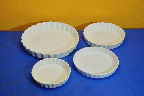 Ceramic tart form 4 baking tins different sizes