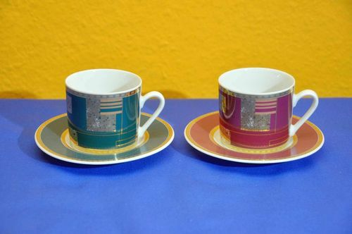 Botticelli Design 2 Mocha Cups Espresso Cups Set